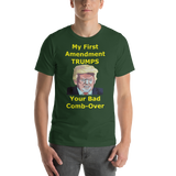 Bella and Canvas Short-Sleeve Unisex T-Shirt: bad combover yellow text