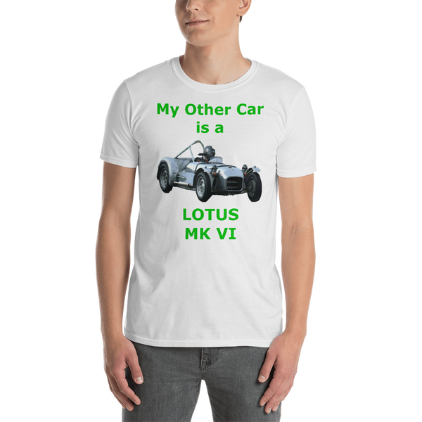Gildan Short-Sleeve Unisex T-Shirt: Lotus MK VI green text