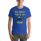 Bella and Canvas Short-Sleeve Unisex T-Shirt: MGB yellow text