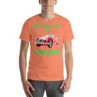Bella and Canvas Short-Sleeve Unisex T-Shirt: MGA Twin Cam green text