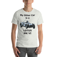 Bella and Canvas Short-Sleeve Unisex T-Shirt: Lotus MK VI black text