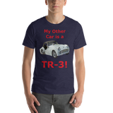 Bella and Canvas Short-Sleeve Unisex T-Shirt: TR-3 red text