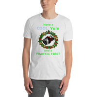 Gildan Short-Sleeve Unisex T-Shirt: Cool Yule green text