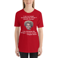 Bella and Canvas Short-Sleeve Unisex T-Shirt: Angela Davis quote white text