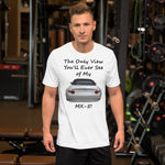Bella and Canvas Short-Sleeve Unisex T-Shirt: Only view MX-5 black text