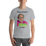 Bella and Canvas Short-Sleeve Unisex T-Shirt: Happy birthday black text