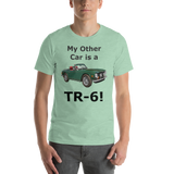 Bella and Canvas Short-Sleeve Unisex T-Shirt: TR-6 black text