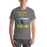 Bella and Canvas Short-Sleeve Unisex T-Shirt: TR-4 yellow text