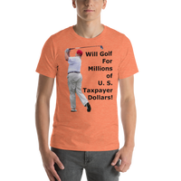 Bella and Canvas Short-Sleeve Unisex T-Shirt: millions of taxpayer dollars black text