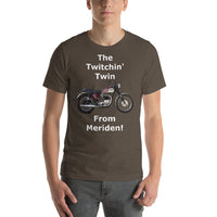 Bella and Canvas Short-Sleeve Unisex T-Shirt: Twitchin twin white text