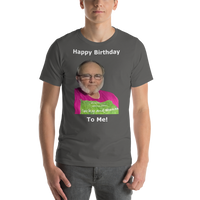 Bella and Canvas Short-Sleeve Unisex T-Shirt: Happy Birthday white text