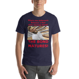 Bella and Canvas Short-Sleeve Unisex T-Shirt: Difference man bond red text