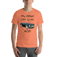 Bella and Canvas Short-Sleeve Unisex T-Shirt: Other car Ace BRG text