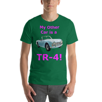 Bella and Canvas Short-Sleeve Unisex T-Shirt: TR-4 magenta text