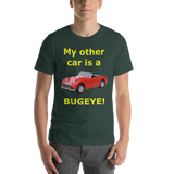 Bella and Canvas Short-Sleeve Unisex T-Shirt: Bugeye yellow text
