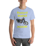 Bella and Canvas Short-Sleeve Unisex T-Shirt: BSA Gold Star yellow text