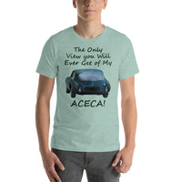 Bella and Canvas Short-Sleeve Unisex T-Shirt: Only view Aceca BRG text