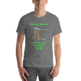 Bella and Canvas Short-Sleeve Unisex T-Shirt: Sharing Works green text