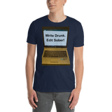 Gildan Short-Sleeve Unisex T-Shirt: write drunk
