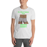 Gildan Short-Sleeve Unisex T-Shirt: Undies gooey male green text