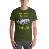 Bella and Canvas Short-Sleeve Unisex T-Shirt: TR-3 yellow text