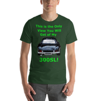 Bella and Canvas Short-Sleeve Unisex T-Shirt: 300SL green text