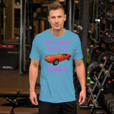 Bella and Canvas Short-Sleeve Unisex T-Shirt: Other car Cobra magenta text