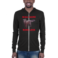 B & C Unisex zip hoodie: Wag more red text
