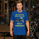 Bella and Canvas Short-Sleeve Unisex T-Shirt: Favorite Bike Egli Vincent yellow text