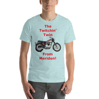 Bella and Canvas Short-Sleeve Unisex T-Shirt: Twitchin twin red text