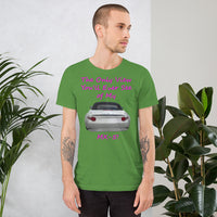 Bella and Canvas Short-Sleeve Unisex T-Shirt: Only view MX-5 magenta text