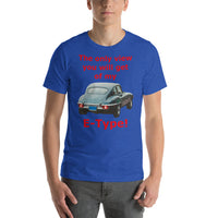 Bella and Canvas Short-Sleeve Unisex T-Shirt: only view E Type red text