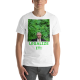 Bella and Canvas Short-Sleeve Unisex T-Shirt: Jeff Sessions LEGALIZE ITgreen text