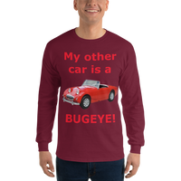 Gildan Long Sleeve T-Shirt: Bugeye red text