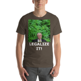 Bella and Canvas Short-Sleeve Unisex T-Shirt: Angel Dust LEGALIZE IT white text