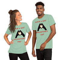 Bella and Canvas Short-Sleeve Unisex T-Shirt: gay valentine 2