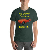 Bella and Canvas Short-Sleeve Unisex T-Shirt: Other car Cobra yellow text