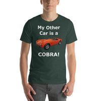 Bella and Canvas Short-Sleeve Unisex T-Shirt: Other car Cobra white text