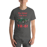 Bella and Canvas Short-Sleeve Unisex T-Shirt: TR-6 red text