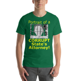 Bella and Canvas Short-Sleeve Unisex T-Shirt: Corrupt State's Attorney yellow text