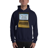 Gildan Hooded Sweatshirt:  Writer at work no text