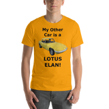 Bella snd Canvas Short-Sleeve Unisex T-Shirt: Lotus Elan black text