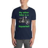 Gildan Short-Sleeve Unisex T-Shirt: Squariel green text