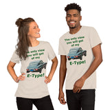 Bella and Canvas Short-Sleeve Unisex T-Shirt: only view E Type BRG text