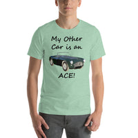 Bella and Canvas Short-Sleeve Unisex T-Shirt: Other car Ace black text