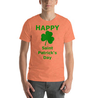 Bella and Canvas Short-Sleeve Unisex T-Shirt: St Patricks Shamrock
