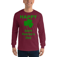 Gildan Long Sleeve T-Shirt: St Patricks Shamrock