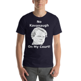 Bella and Canvas Short-Sleeve Unisex T-Shirt: no kavanaugh white text