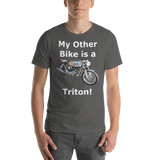 Bella and Canvas Short-Sleeve Unisex T-Shirt: Triton white text
