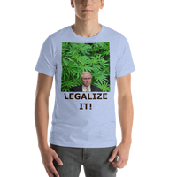 Bella and Canvas Short-Sleeve Unisex T-Shirt: Jeff Sessions LEGALIZE IT brown text